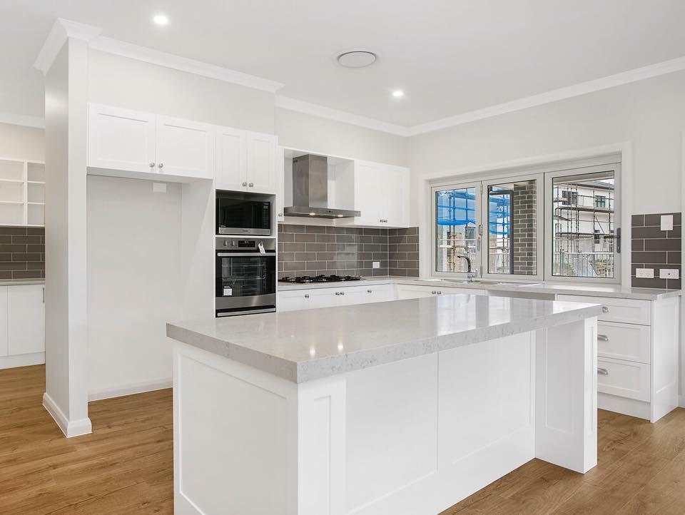 Modern kitchen with new appliances